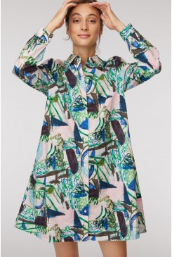 Winter Garden Shirt Dress
