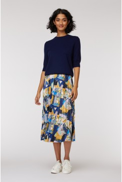 Mountain To Sea Pleat Skirt