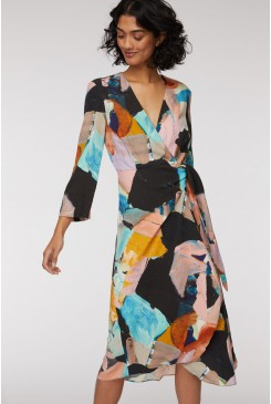 Mindful Friends Wrap Dress