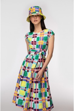 Acid Check Wrap Dress