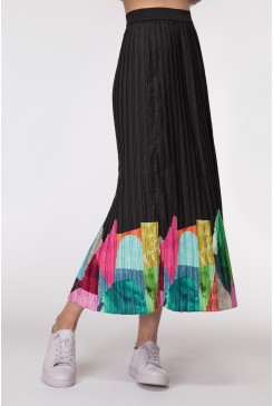Colour Drop Placement Skirt