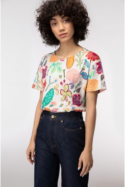 Pitched Petals Tee