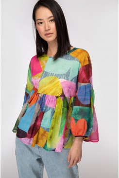 Colour Drop Smock Top