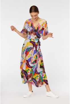Wild Orchid Wrap Dress