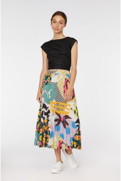 Blockwork Pleated Skirt