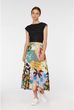 Blockwork Pleated Skirt