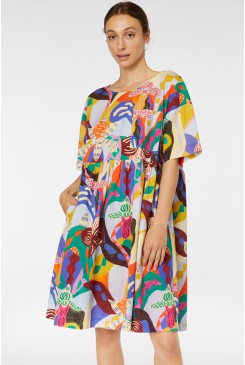 Wild Orchid Smock Dress