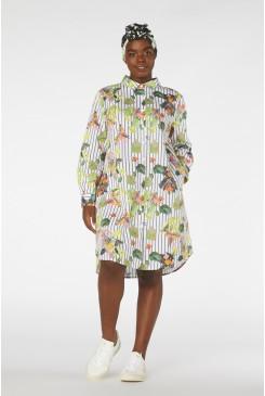 Stripewing Shirt Dress