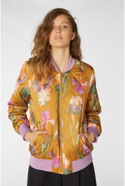 Iris Gold Bomber Jacket