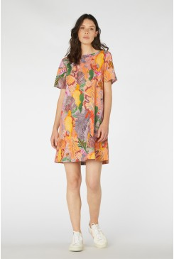 Iris Veins Swing Dress