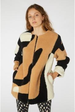Marcias Maze Shearling Coat