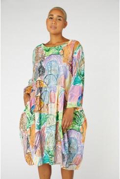 Violet Landscape Cord Dress