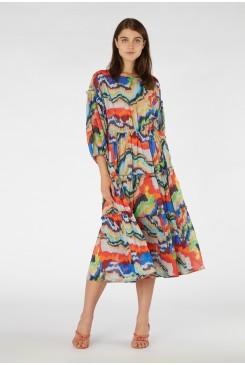 Felt Tip Forest Long Dress