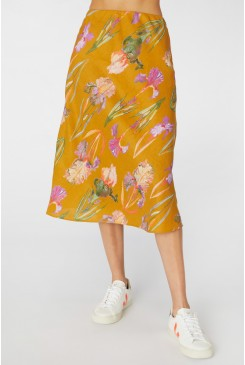 Iris Gold Slip Skirt