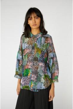 Violet Landscape Shirt