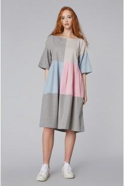Clipped Spliced Sadie Dress