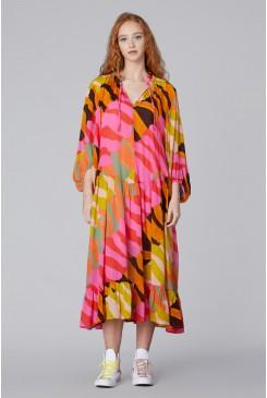 Wave Town Long Dress