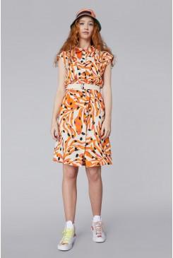 Dear Coral Shirt Dress