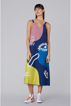 Incomplete Thought Emb Dress