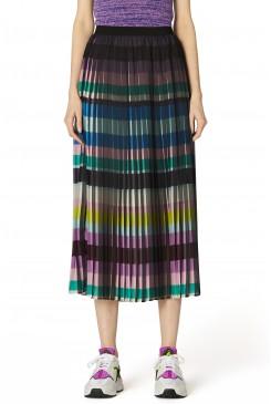 Kinetic Check Pleat Skirt