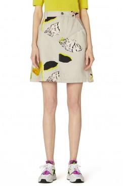 Floret Denim Skirt