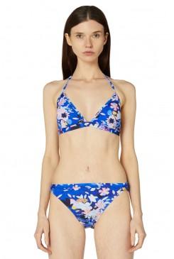 Big Blue Triangle Bikini Top