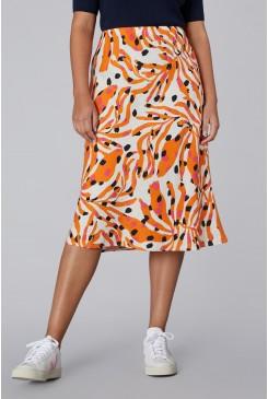 Dear Coral Linen Slip Skirt