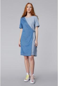 Genie Wrap Denim Dress