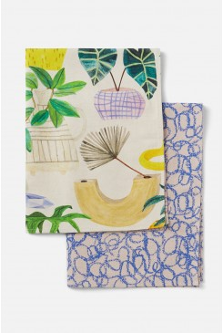 Green Gallery Tea Towel Set
