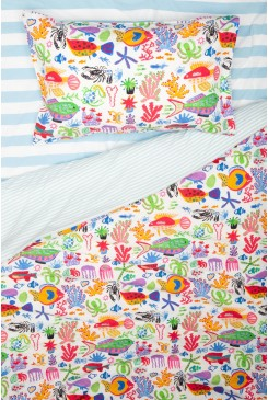 Sea You Round Kids Bedding Set