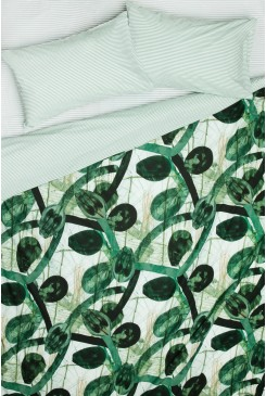 Ink Leaves Bedding Set Double