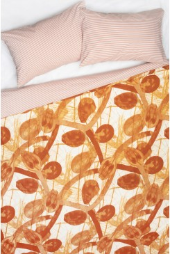 Ink Leaves Bedding Set King