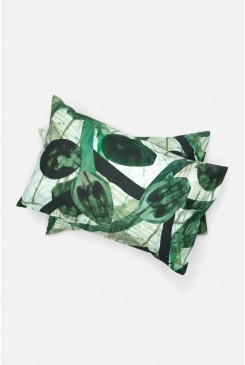Ink Leaves Pillowcase Set