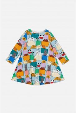 Pup Pocket Jersey Dress
