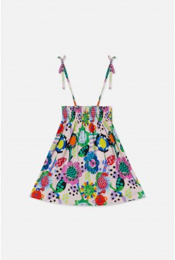 Flower Power Shirred Skirt