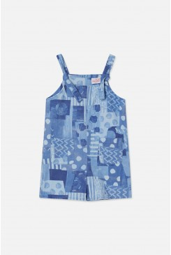Mix Shapes Pinafore Dress