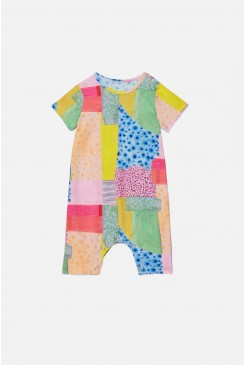 Patch Short Sleeve Baby Onesie