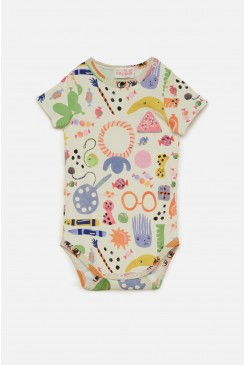 Party Bag Short Sleeve Baby Onesie