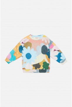 Jumble Garden Baby Sweater
