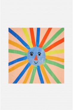 Happy Sun Face Baby Muslin Wrap
