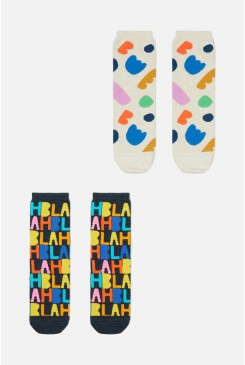 Blah Blah 2pk Socks