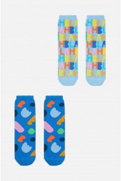Little Colour Bits2pk Socks