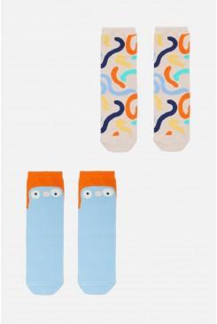 Squiggle Kids 2 Pk Socks
