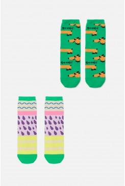 Sausage Dog Kids Socks2Pk
