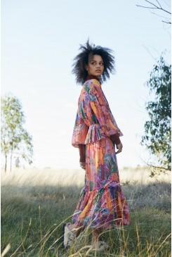 Iris Veins Long Dress