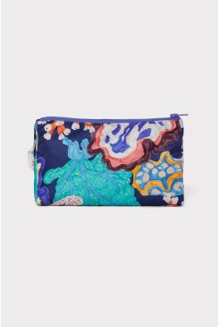 Floral Coral Toiletry Bag