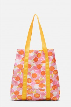 Tossed Orange Neoprene Tote