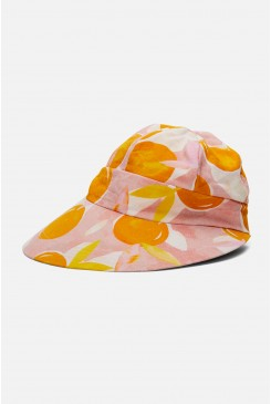 Tossed Orange Wide Brim Hat