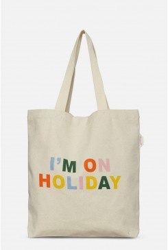 Im On Holiday Canvas Tote