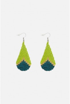 Green Droplet Earring